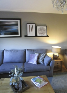 Complete Room design with bespoke sofa and art display