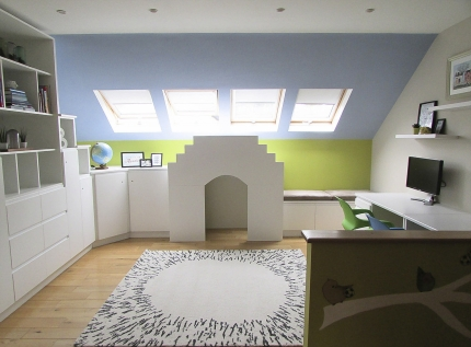 Bespoke storage and play house design, custom-made Co. Westmeath, Ireland