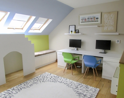 Creative and bright room for kids, design project in Athlone - Ireland