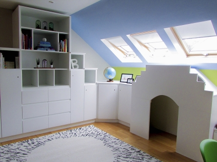 Functional and spacial design, storage solution for kids to play in Athlone