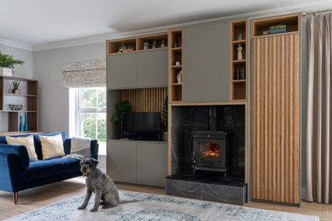 Bespoke unit design for sitting room in co.Laois by AlenaCDesign