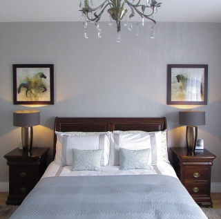Luxury and elegant bedroom home improvement, refurbishment