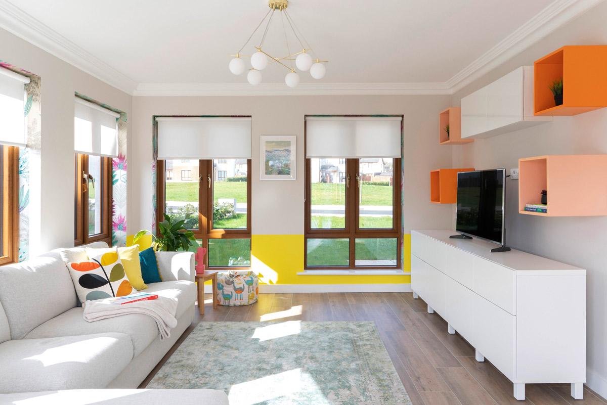 Contemporary playroom family room design by AlenaCDesign in Carlow Ireland