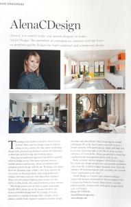 Interior designer profile highlight in magazine