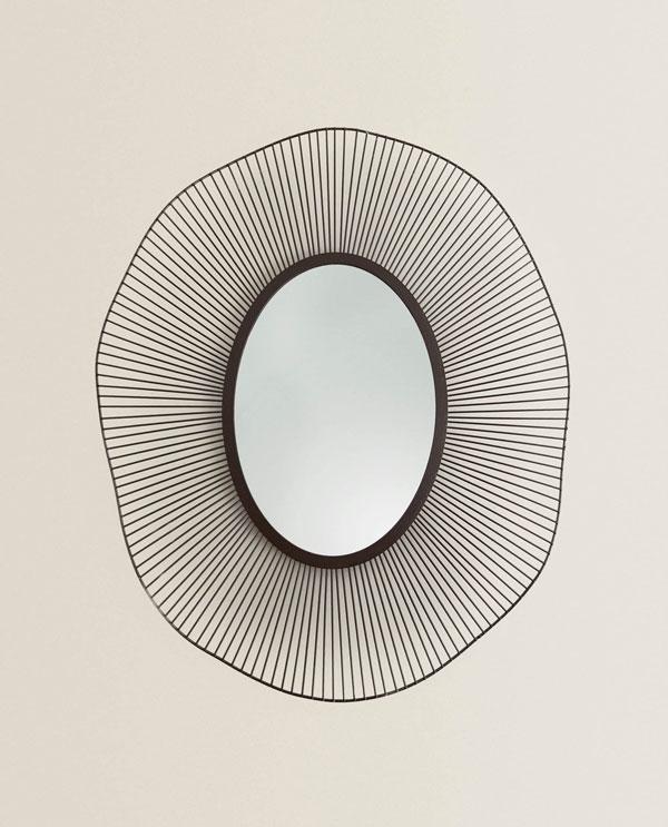 Metal mesh mirror Zara home