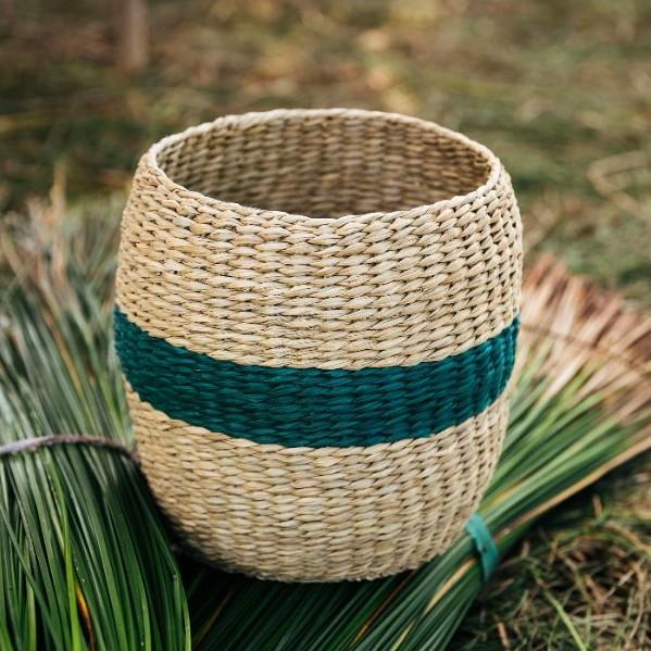 Green seagrass basket home decor ikea shopping