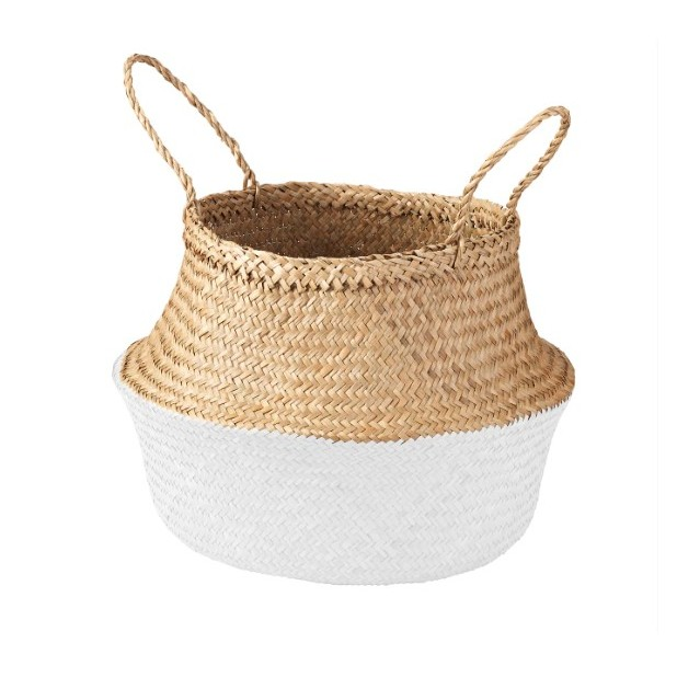 White basket IKEA decor