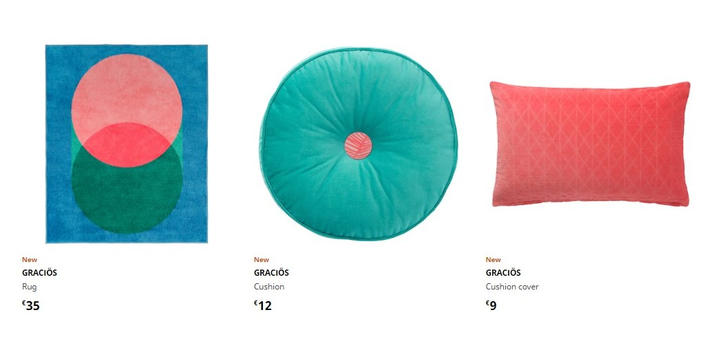 Styling colourful decor for home IKEA shopping