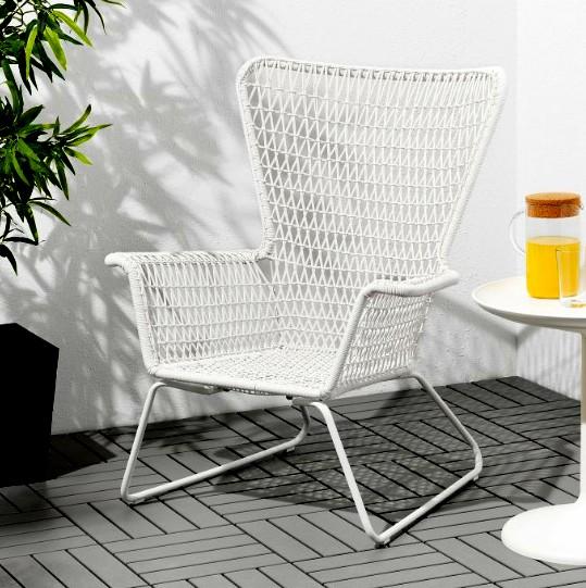 Garden chair white IKEA